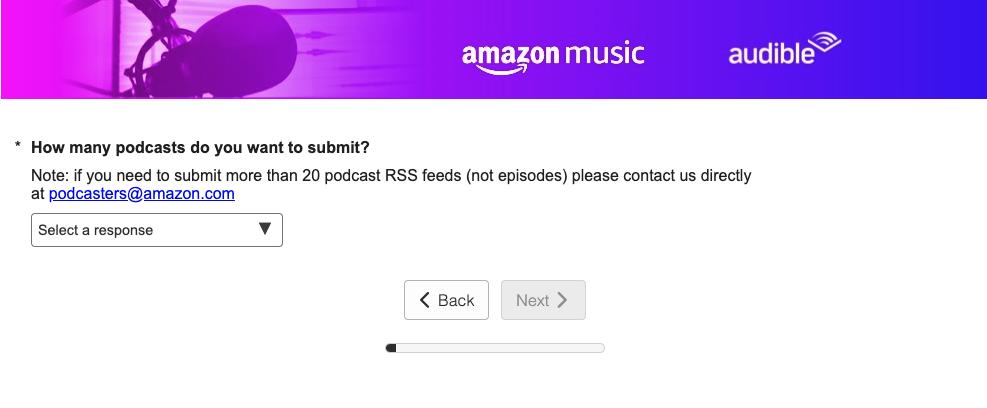 Amazon Music: Podcast einreichen Tutorial