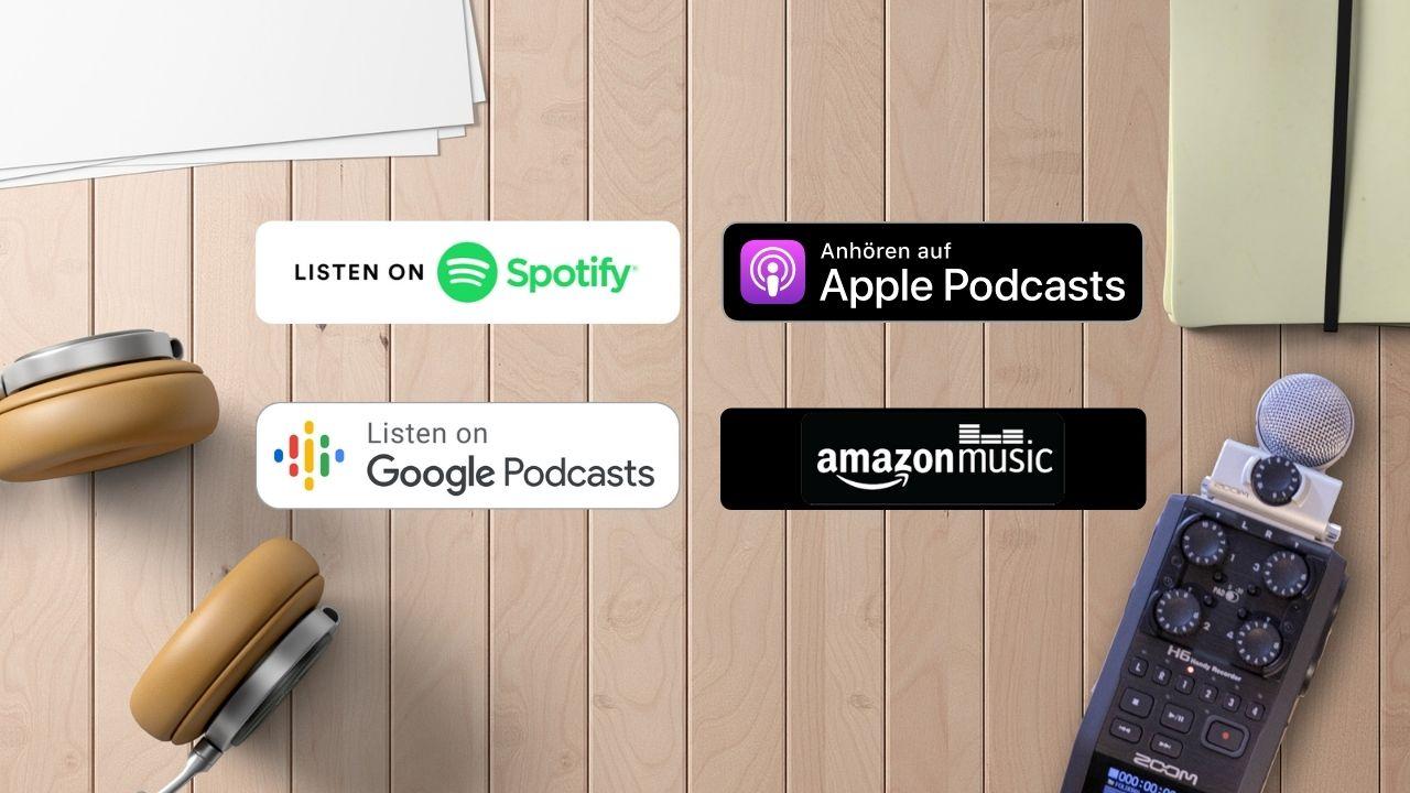 Podcast Plattformen im Vergleich: Was bietet Spotify, iTunes Google Podcast und Amazon Music für Podcaster?